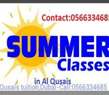 Summer Vacation Maths tuition available