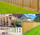 Wooden Fences at front porch ideas in Dubai