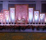 Wedding stage backdrop Pakistani Indian Arab weddings