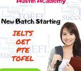 New Batch Start Ielts,tofel.oet,pte