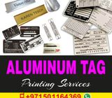 Aluminum Tags, Metal Tags, Machine Tags, Pipeline Tags, ID Lifting Tags Printing