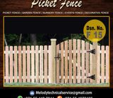 Garden Fence Dubai | Picket Fence UAE | Wooden Fence Suppliers In Dubai