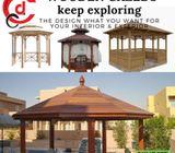 Luxury Patio Wooden Gazebo Designs in Dubai