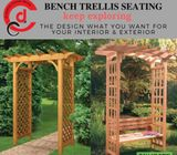 Arbor Garden Arch Corner Bench Trellis Seating in Dubai