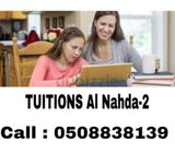 Tuitions Available ( Al Nahda-2 ) KG-12