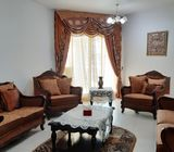 Sofa set with curtains