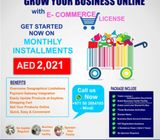 Get your E commerce License in Installments