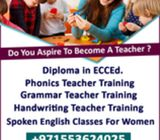 Phonics Teacher Training,Diploma in ECCEd, Handwriting program, Grammar Teacher Training