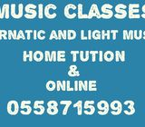 CARNATIC AND LIGHT MUSIC CLASSES