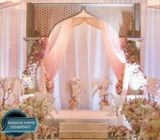 Heena mehndi stage decorations backdrop renrals