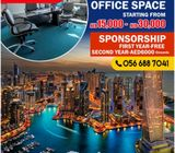 OFFICE SPACE WITH FREE SPONSORSHIP FOR FIRST YEAR