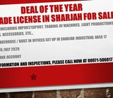 Deal of the year Trade license in Sharjah for SALE  with new built in offices