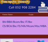 BA, BBA, Bcom, Bsc IT, Bsc F/S, BCA, Bsc CS, Btech ,MA ,MBA,Mcom,MCA,