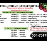 Etisalat Elife home internet two months free
