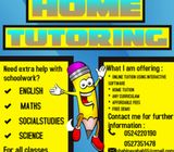 Online and home tuition available