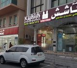 Cafeteria For Rent on main road side with service road Golden chance Kashish Restaurant Roads Beside