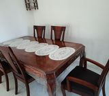 Home Centre Wooden Dining Table + 6 chairs