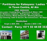 Furnished Partitions for Ladies / Kabayans in Town Centre, Al Ain