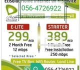 New Etisalat wifi packages