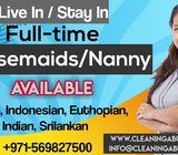 Full time stay in Housemaids/ Nanny in abu dhabi