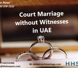Court Marriage without Witnesses in UAE possible +971553701232