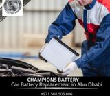 Champions Battery Replacement Service Abu Dhabi