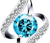 Swarovski Elements 925 Sterling Silver Pendent Necklace for Women Gift Jewelry