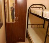Fully closed partition for 2 ladies near metro (indian)