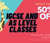 IGCSE and AS Level classes with FREE DEMO!