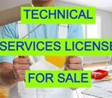 Technical services license for sale