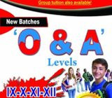 TUITIONS AVAILABLE O & A LEVEL
