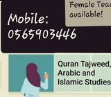 Quran Recitation and school Arabic(for non Arab students) classes offered by a female teacher