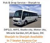 Pick & drop service from Sharjah to Dubai - DIP, IMPZ, AL QUOZ, JVC,STUDIO CITY, MIRACLE GARDEN