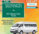 INTERNATIONAL  CITY CARLIFT to JLT,Media city, Tecom 0521522741