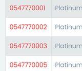 Etisalat Platinum Number
