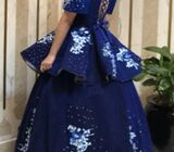 Blue Evening Gown (with beads)