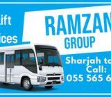 Passenger Transport / Car Lift / Ramzan Group/ Sharjah to DIP
