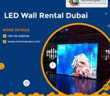 Innovative LED & LCD Video Wall Rentals in Dubai