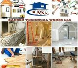Gypsum / Aluminum / Glass Partitioning ,Ceiling Shower Doors Installation