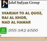 CAR LIFT Sharjah  to AL QUOZ. RAS AL KHOR. NAD AL HAMAR