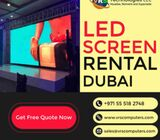 Large Led Screen Hire Solutions for Events in Dubai