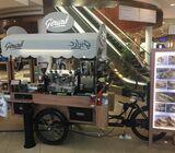 Food truck cafe bike