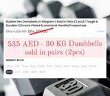 Brand new dumbbells 15kg/22.5kg/30kg