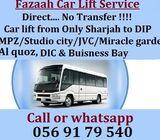 Car lift service - Pick and drop services Sharjah to DIP - Al quoz - DIC - IMPZ  professional driver