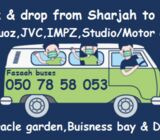 Pick and drop from SHARJAH to DIP, AL QUOZ, IMPZ, JVC,STUDIO CITY, EXPO 2020,JEBEL ALI  050 78 58 05