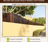 Wall Topper in Uae | Wooden Slatted Fences in Uae.