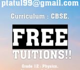 TUITIONS COMPLETELY FREE OF COST!