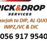 Pick and drop service from Sharjah to Dubai DIP, Al quoz,DIC,IMPZ car lift 0507858053